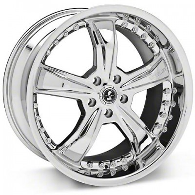 Shelby Razor Shelby, Chrome Plated/Plaqué chrome, 18X10, 5x114.3, (offset/déport 45) ,72.6
