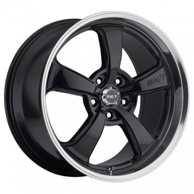 Roue Mickey Thompson MT SC-5 Black, noir rebord machine (18X9, 5x114.3, 130.1, déport 32)