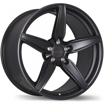 Braelin BR01 Matte Black/Noir Mat 20x8.5, 5x108mm(offset/deport 25)