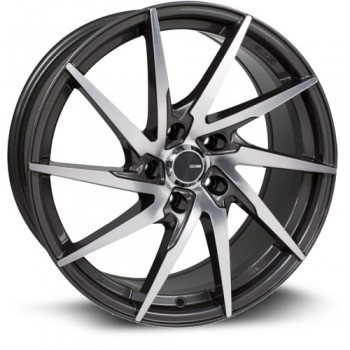 Enkei PW10, Gris Fonce Machine/Dark Gray Machine, 17X7.5, 5x114.3 ( offset/deport 45), 72.6