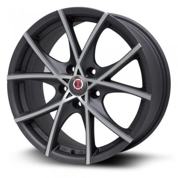 RTX Wheels IX004, Noir Machine/Machine Black, 17X7.5, 5x100 ( offset/deport 42), 73.1