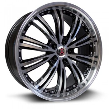 RTX Wheels IX005, Noir Machine/Machine Black, 17X7, 5x114.3 ( offset/deport 42), 73.1