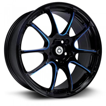 Konig Illusion, Noir/Black, 17X7, 5x114.3 ( offset/deport 40), 73.1