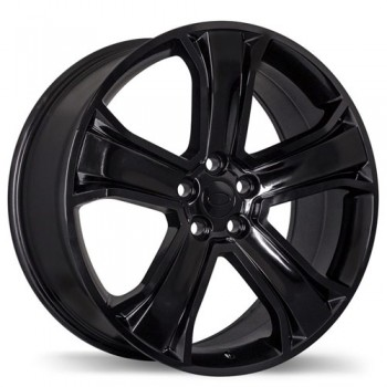 Replika R135B Gloss Black/Noir lustré , 20X9.5, 5x120 , (offset/deport 50 )Land Rover