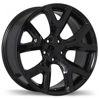 Replika R165 Gloss Black/Noir lustré , 17X7.5, 5x110 , (offset/deport 31 )Jeep