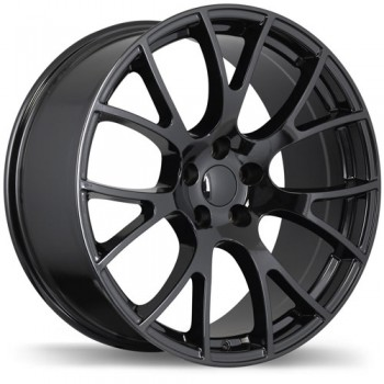 Replika R179 Gloss Black/Noir lustré , 20X10.0, 5x115 , (offset/deport 18 )Dodge
