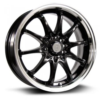RTX Wheels Appllo, Noir Machine/Machine Black, 17X7, 5x110/114.3 ( offset/deport 40), 73.1