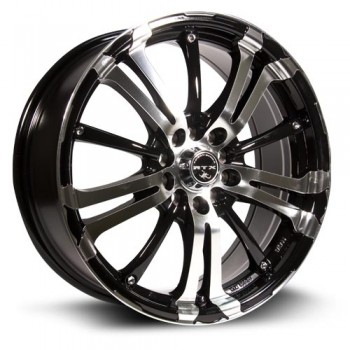 RTX Wheels Arsenic, Noir Machine/Machine Black, 17X7, 5x100/114.3 ( offset/deport 42), 73.1