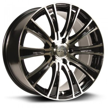 RTX Wheels Baron, Noir Machine/Machine Black, 16X7, 5x114.3 ( offset/deport 45), 73.1