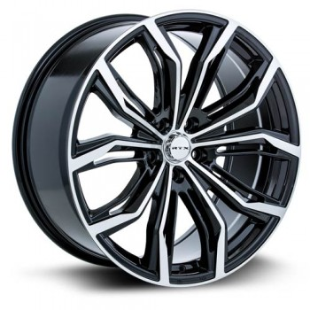 RTX Wheels Black Widow, Noir Machine/Machine Black, 17X7.5, 5x112 ( offset/deport 42), 66.6