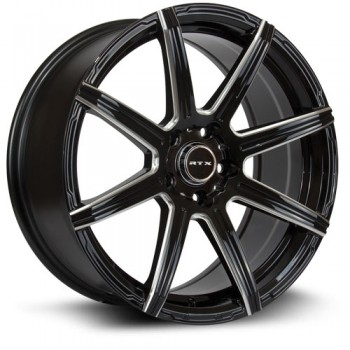 RTX Wheels Compass, Noir Machine/Machine Black, 18X8, 5x114.3 ( offset/deport 40), 73.1