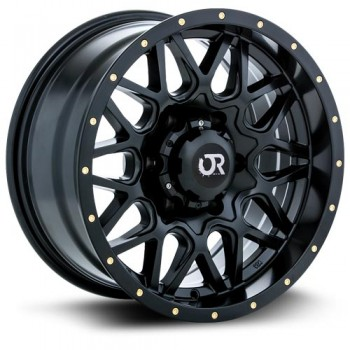 RTX Wheels Canyon, Noir Satine/Satin Black, 20X9, 6x139.7 ( offset/deport 10), 106.1