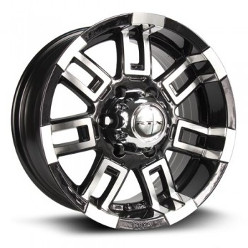 RTX Wheels Crush, Noir Machine/Machine Black, 16X8, 5x114.3 ( offset/deport 12), 73.1