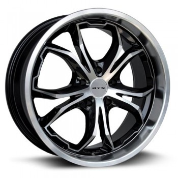 RTX Wheels Fang, Noir Machine/Machine Black, 18X8, 5x114.3 ( offset/deport 45), 73.1