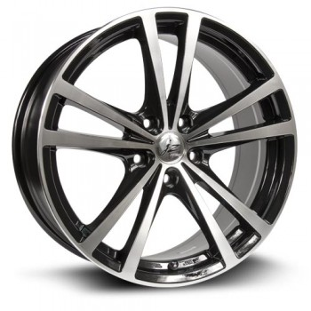 RTX Wheels Force, Noir Machine/Machine Black, 15X6.5, 4x100 ( offset/deport 42), 73.1