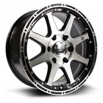 RTX Wheels Granite, Noir Machine/Machine Black, 17X7.5, 6x135 ( offset/deport 30), 87