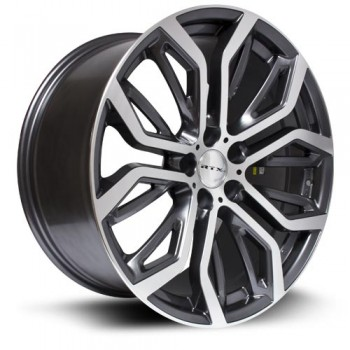 RTX Wheels Haan, Gris Fonce Machine/Dark Gray Machine, 19X9, 5x120 ( offset/deport 48), 74.1 BMW
