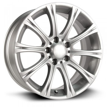 RTX Wheels Hamburg, Argent/Silver, 17X8, 5x120 ( offset/deport 35), 72.6 BMW