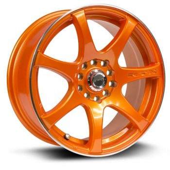 RTX Wheels Ink, Orange, 15X6.5, 4x100/114.3 ( offset/deport 40), 73.1