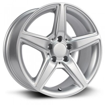 RTX Wheels Mann, Argent/Silver, 17X8, 5x112 ( offset/deport 45), 66.6 Mercedes-Benz