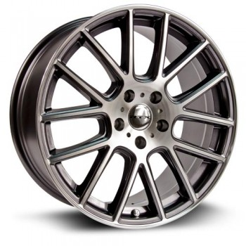 RTX Wheels Milan, Gris Gunmetal Machine/Machine Gunmetal, 15X6.5, 4x100 ( offset/deport 38), 73.1