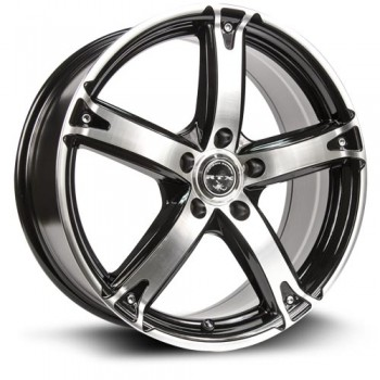 RTX Wheels Neurotoxin, Noir Machine/Machine Black, 16X7, 4x100 ( offset/deport 42), 73