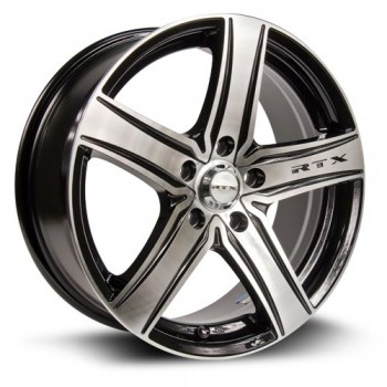 RTX Wheels Notorious, Noir Machine/Machine Black, 16X7, 5x105 ( offset/deport 40), 56.6
