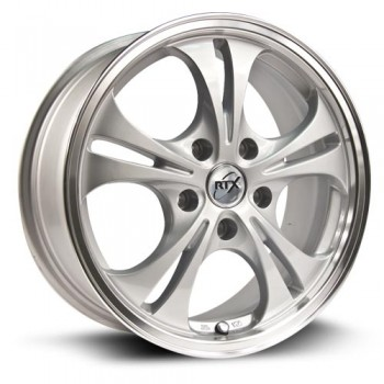 RTX Wheels Phantom, Argent Machiné /Machined Silver, 15X6.5, 5x114.3 ( offset/deport 45), 73