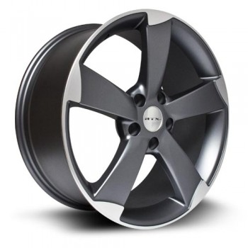 RTX Wheels RS, Gris Gunmetal Machine/Machine Gunmetal, 19X8.5, 5x112 ( offset/deport 38), 66.6 Audi/Volkswagen