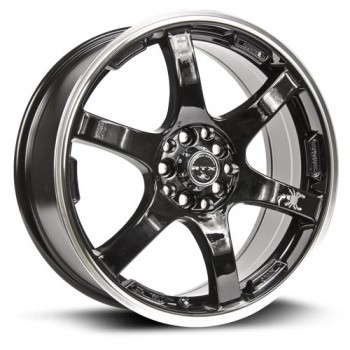 RTX Wheels Scorpion, Noir Machine/Machine Black, 17X7, 5x100/114.3 ( offset/deport 42), 73.1