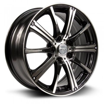 RTX Wheels Spark, Noir Machine/Machine Black, 14X5.5, 4x100 ( offset/deport 38), 73.1