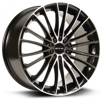 RTX Wheels Turbine, Noir Machine/Machine Black, 18X8, 5x100/114.3 ( offset/deport 45), 73.1