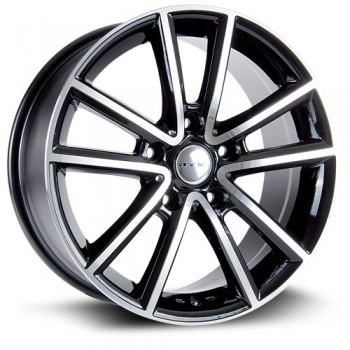 RTX Wheels Auburn, Noir Machine/Machine Black, 17X7.5, 5x127 ( offset/deport 35), 71.5