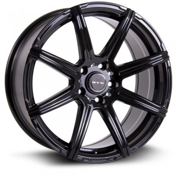 RTX Wheels Compass, Noir/Black, 17X7.5, 5x112 ( offset/deport 40), 66.6