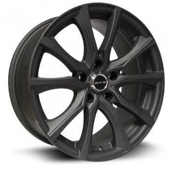 RTX Wheels Contour, Matte Noir/Black Mat, 16X7, 5x108 ( offset/deport 40), 63.4
