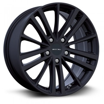 RTX Wheels Cosmos, Noir Satine/Satin Black, 17X7.5, 5x100 ( offset/deport 42), 56.1 Subaru