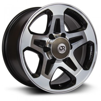 RTX Wheels Courier, Noir Machine/Machine Black, 16X7, 6x130 ( offset/deport 30), 84.1