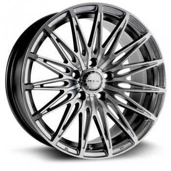 RTX Wheels Crystal, Noir Machine/Machine Black, 16X7, 5x100 ( offset/deport 40), 73.1