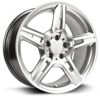 RTX Wheels Kassel, Argent/Silver, 17X8, 5x112 ( offset/deport 40), 66.6 Mercedes-Benz