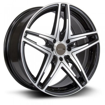 RTX Wheels Parallel, Noir Machine/Machine Black, 16X7, 5x112 ( offset/deport 40), 57.1