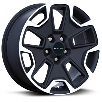RTX Wheels Summit, Noir Machine/Machine Black, 17X8, 5x110 ( offset/deport 35), 65.1 Jeep