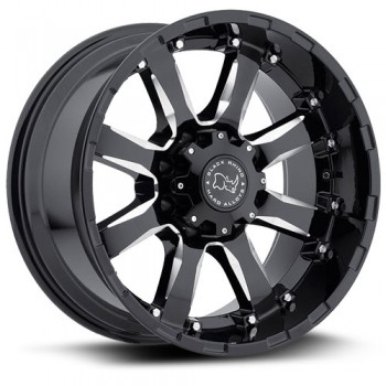 Black Rhino Sierra, Noir Machine/Machine Black, 17X9, 5x139.7 ( offset/deport 0), 78