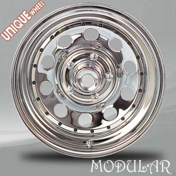 Unique Wheel Modular, Chrome/Chrome, 16X8, 8x165.1 ( offset/deport 0), 130.81