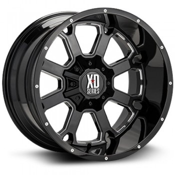 XD Series Buck 25, Noir Machine/Machine Black, 20X9, 5x139.7/150 ( offset/deport 0), 110