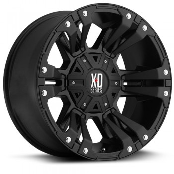 XD Series Monster II, Noir Mat/Black Matte, 18X9, 6x135/139.7 ( offset/deport 18), 106