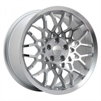 Dai Alloys Meister, Argent - Façade diamant/Silver - Diamond Face, 18X8.5, 5x114.3 (offset/deport 42), 73.1