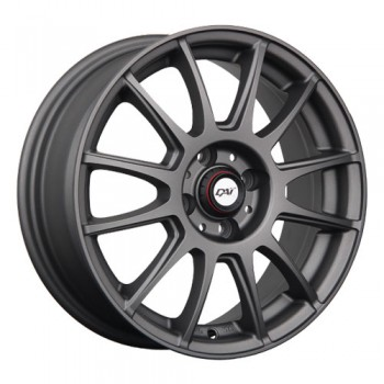 Dai Alloys Rado, Anthracite mat/Matt Anthracite, 16X6.5, 5x100 (offset/deport 42), 56.1