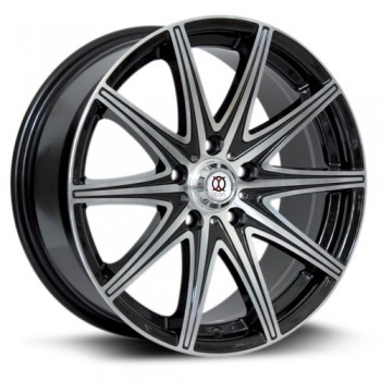 IXION IX001, Noir Machine/Machine Black, 15X6.5, 4x100 ( offset/deport 40), 73.1