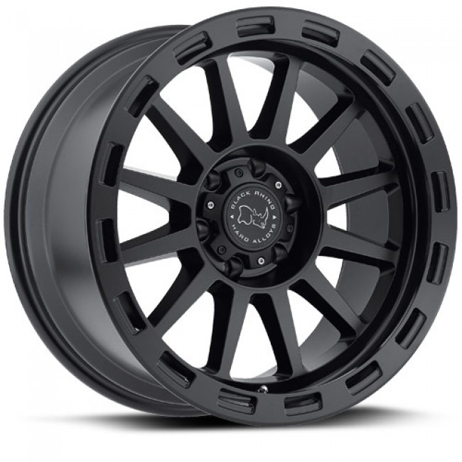 Black Rhino Revolution, Noir Mat/Black Matte, 20X9, 6x139.7 ( offset/deport 12), 112