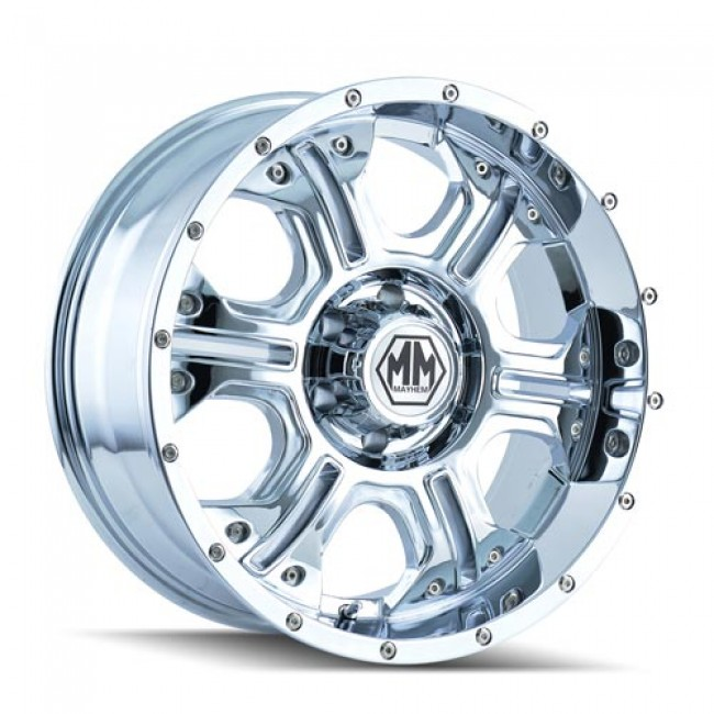 MAYHEM HAVOC 17x8, 5x139.7, Chrome/Chrome (offset/deport +10)